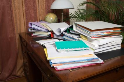 clutter, binders & files