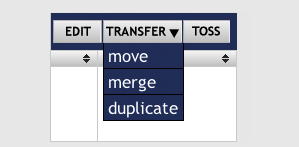 Easily comandeer your files with the move, merge, and duplicate functions.